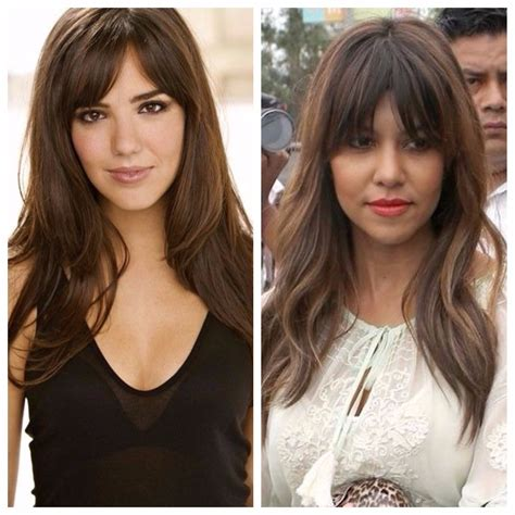 Your Guide to Curtain Bangs Long hair styles Square