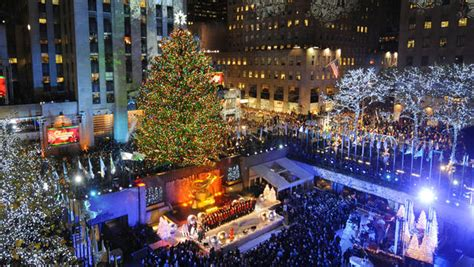 rockefeller center christmas tree lights  cbs news