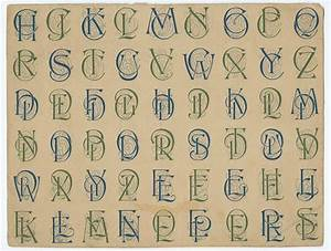 Collection of designs for letters and monograms, by J.M ...