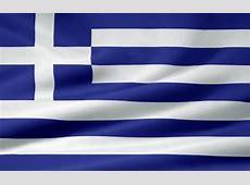 Griechische Flagge Juergen Priewe als Kunstdruck oder