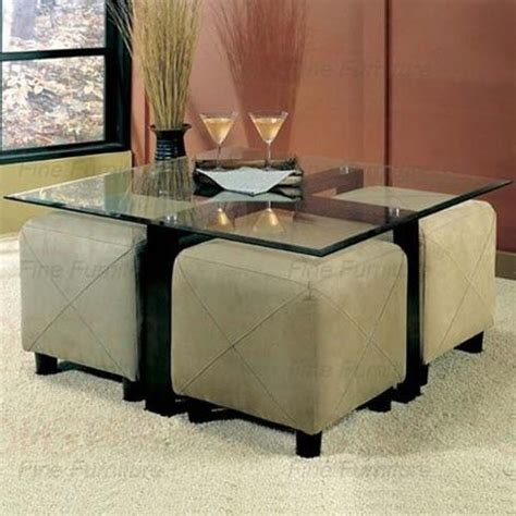 Gorgeously angular, these cube coffee tables lend your room a cool, solid touch. coffee table ottoman with seating | Glass Coffee Table and ...