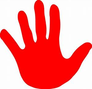 Hand Red Left Clip Art at Clker.com - vector clip art ...