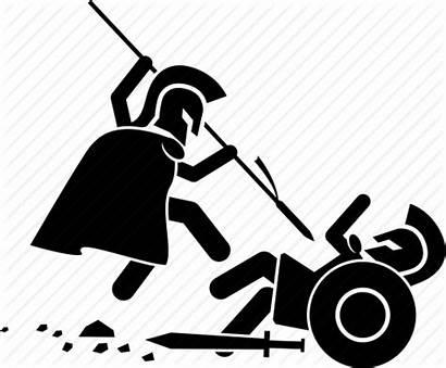 War Battle Clipart Medieval Transparent Trojan Fight