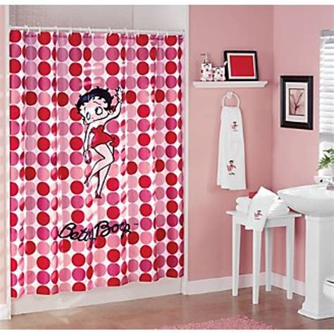 Betty Boop Bathroom Sets by Betty Boop Shower Curtain Dots Style