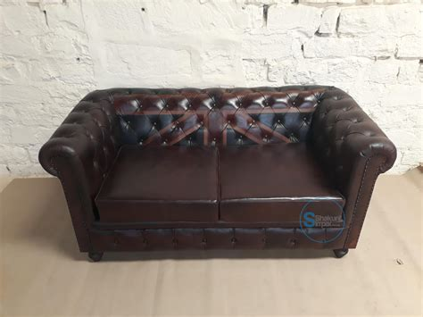 Vintage Leather Chesterfield Union Jack Sofa Shakunt
