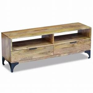 Meuble Tv Manguier : acheter vidaxl meuble tv bois de manguier 120 x 35 x 45 cm pas cher ~ Teatrodelosmanantiales.com Idées de Décoration