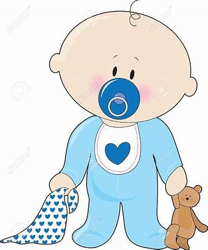 Boy Clipart Newborn Clip Soother Shower Illustration