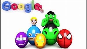 Learn colors Surprise eggs 3D Cartoons for children Video ...