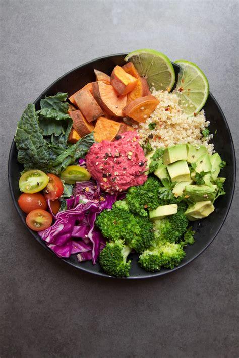 nourish bowl  beetroot hommus