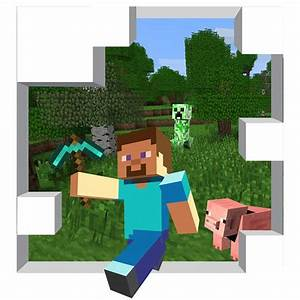 Huge minecraft mural 56 x 62 by wilsongraphics on etsy for Awesome minecraft vinyl wall decals