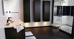 Carrelage Salle De Bain Noir Et Blanc : salle de bain noir et blanc c 39 est la tendance d co deco cool ~ Dallasstarsshop.com Idées de Décoration