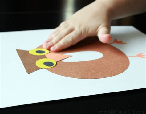 preschool alphabet book lowercase letter o from abcs to 483 | Construction Paper Crafts for Preschoolers Letter O Owl