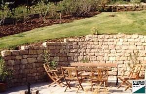 Steinmauer Im Garten : steinmauern im garten ~ Lizthompson.info Haus und Dekorationen