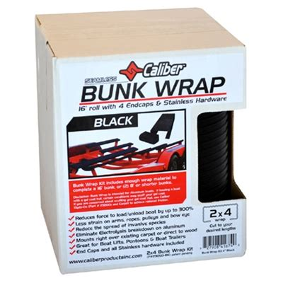 Boat Bunk Wax by Caliber Bunk Wrap Black 16 X 2 Quot X 4 Quot With End Caps