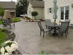 Adding Pavers To Concrete Patio Decorate Stone Patios Stamped Concrete Mimics Stone Pavers The Concrete
