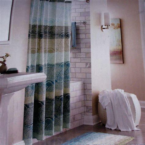 threshold shower curtains threshold scallop dot cool seersucker teal aqua gray