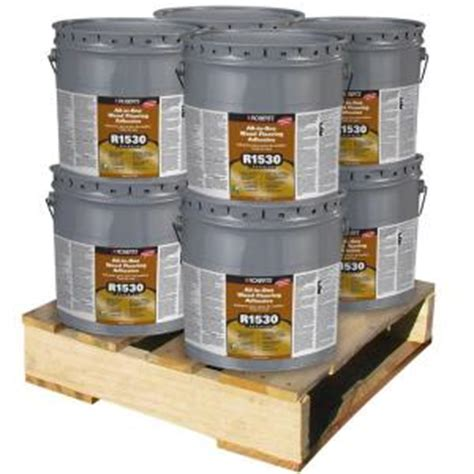 home depot flooring moisture barrier roberts 4 gal wood flooring urethane adhesive and moisture sound barrier r1530 4 8p the home