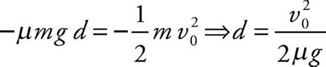 On putting u = 0 in eq (7), we get that The work-energy theorem says that the work done by friction is equal to the change in kinetic ...