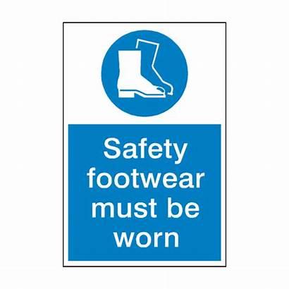 Safety Sign Mandatory Footwear Signs Sticker Vat