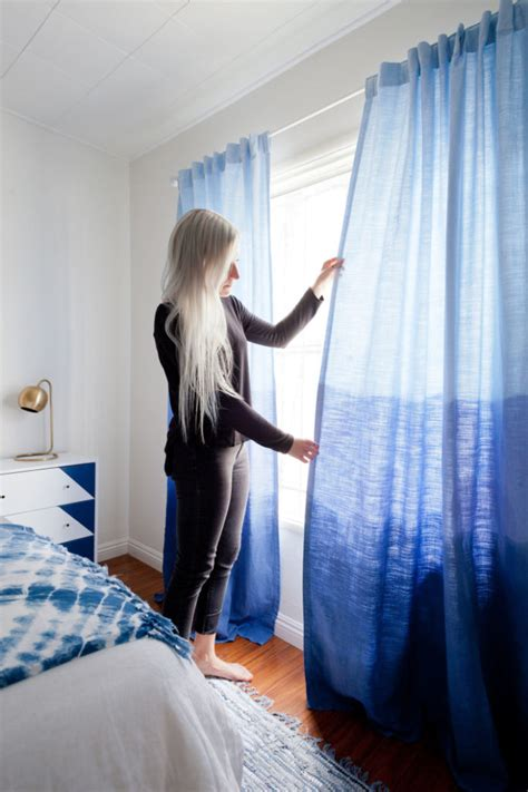 Dying Drapes - colorful dip dye ombre curtains for every room