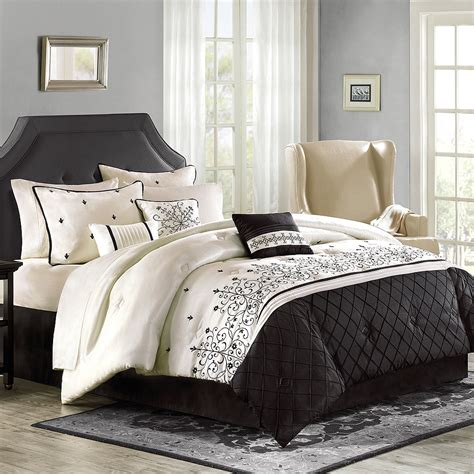 luxury home willowbrook 8 piece comforter set walmart com