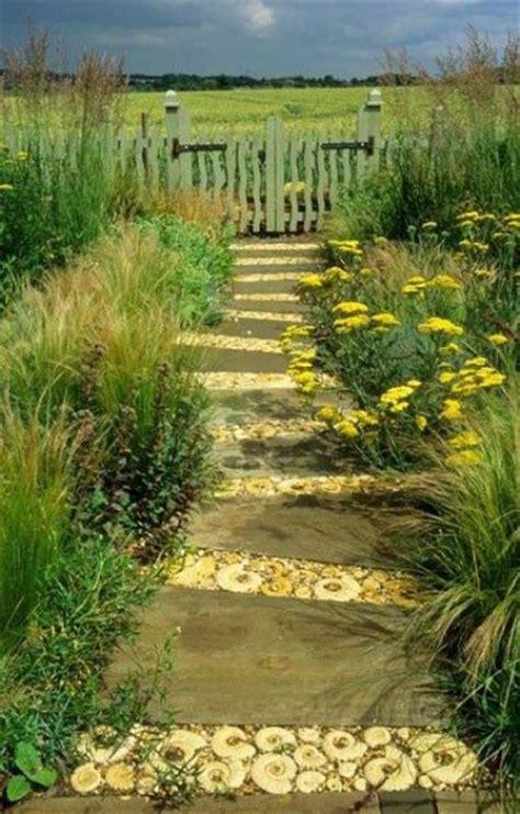 closer  nature  cool wood garden path ideas