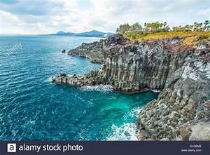 Jungmun Daepo in Jeju Island, South Korea Stock Photo ...