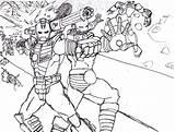 Coloring Iron War Machine Printable Superheros Simple Super Captain America Adult Children Plane sketch template