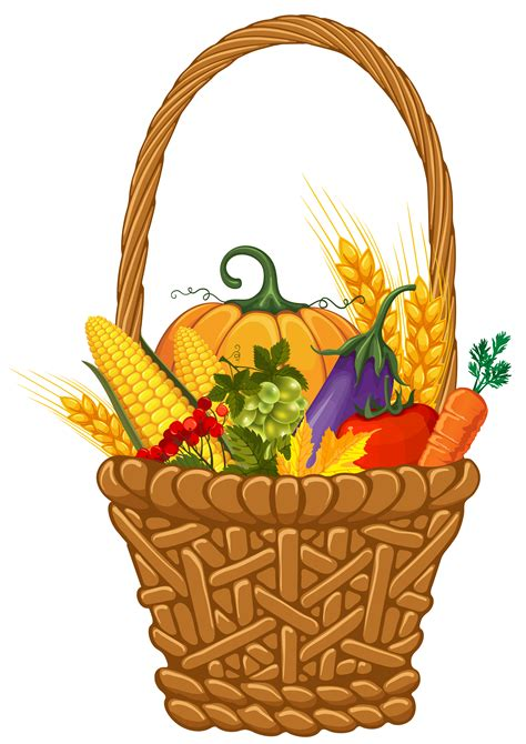 Fall Harvest Basket PNG Clipart Image | Gallery ...