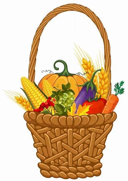 Harvest Basket Fall Clipart Gift Clip Vegetable