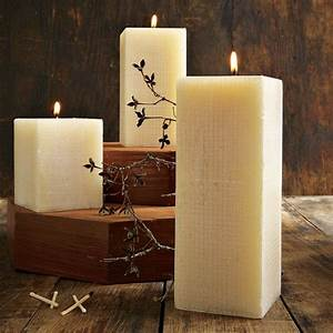linen texture candles modern candles by west elm With best brand of paint for kitchen cabinets with glass square candle holders