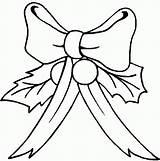 Coloring Bows Pages Christmas Colouring sketch template