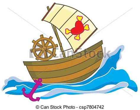 Love Boat Clipart by Clip Art Of Pirate Boat A Pirate Ship In The Sea Moving