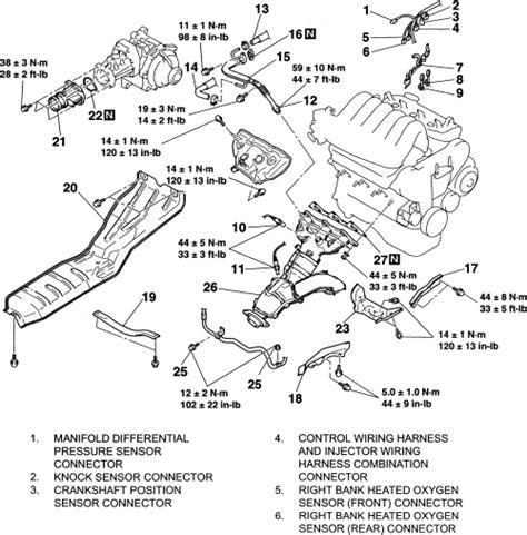 vehicle repair manual 2004 mitsubishi endeavor transmission control repair guides engine mechanical components exhaust manifold autozone com