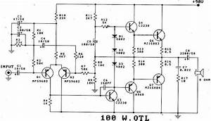 gt circuits gt 100w transistor power amplifier schematic With 100w power amp