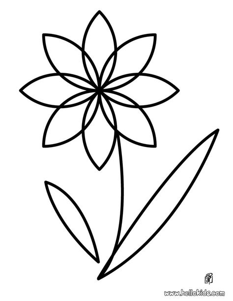 coloring pages of flowers flower coloring pages hellokids