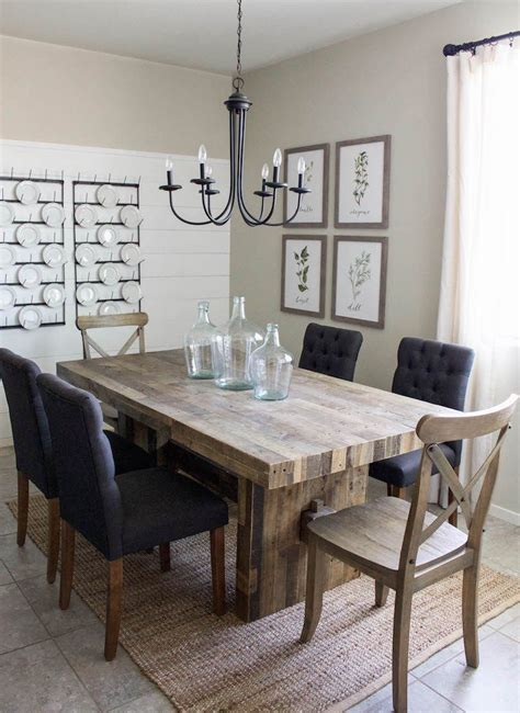 small modern kitchen table modern farmhouse dining room diy shiplap home sweet