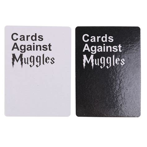 The harry potter trading card game base set was the first set of cards of harry potter trading card game, introduced in august 2001. Cards Against Muggles 1440 Cards HARRY POTTER EDITION Party Table Card - DomoSecret