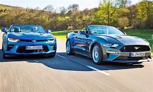 Ford Mustang Cabrio Kofferraum : chevrolet camaro cabrio ford mustang cabrio test ~ Jslefanu.com Haus und Dekorationen