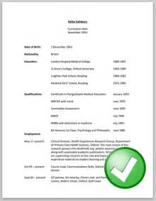 Whats A Resume by What Is Cv Free Resume Exles