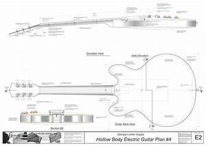 Hollow Body Electric Guitar Plan  4  Electronic Version Thinline Electric Guitar Plans
