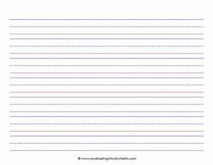 Lined writing paper kindergarten wwwimgkidcom the for Learning to write paper template
