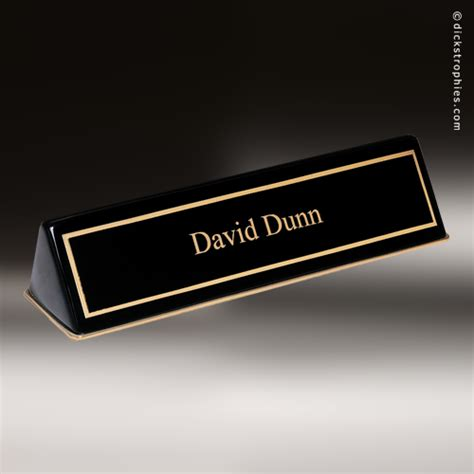 Desk Name Plates by Desk Wedge Name Plates