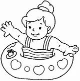 Coloring Pages Float Water Child Sink Template Clipartmag sketch template