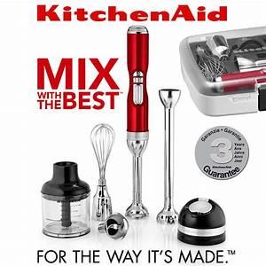 Kitchen Aid Stabmixer : kitchenaid artisan kabelloser stabmixer mit zubeh rbox mixer ~ One.caynefoto.club Haus und Dekorationen