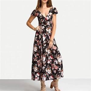 Summer Floral Print Maxi Dresses