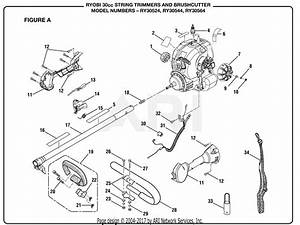 Homelite Ry30524 30cc String Trimmer Parts Diagram For