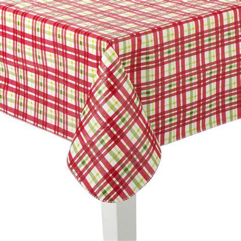 plaid tablecloths christmas vinyl tablecloth plaid