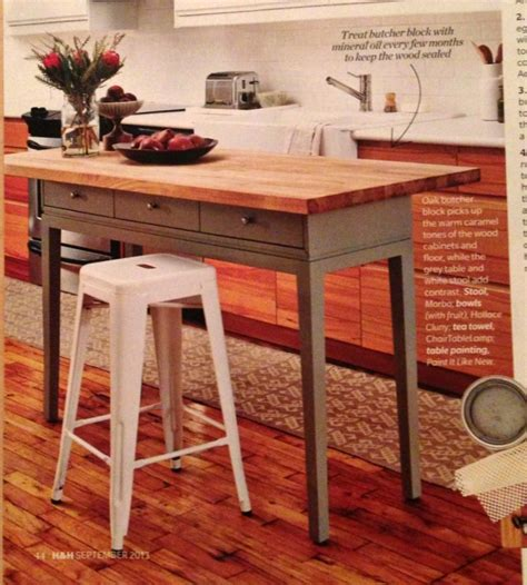 build kitchen island table diy kitchen island using a console table and a butcher 4960