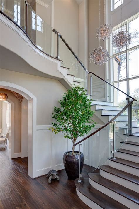 curved staircase ideas  pinterest